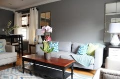 House Painting - Gray residential living room