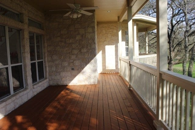 Refinished deck and painted railing