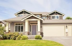 Neutral color painted house