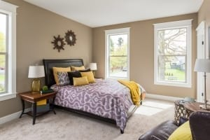 painting tips - staged bedroom