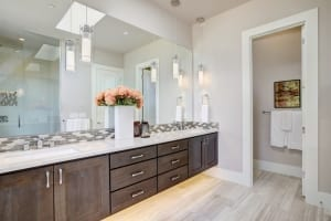 modern painted bathroom