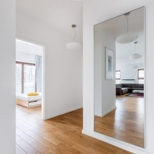 Mirrors for more open apartment design