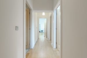 hallway with natural light
