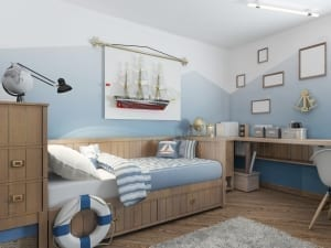 nautical themed teen bedroom