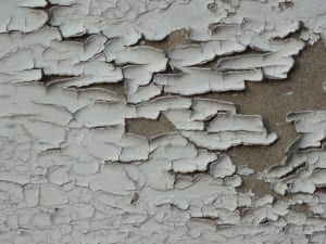flaking lead paint chips