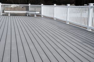 painted gray deck