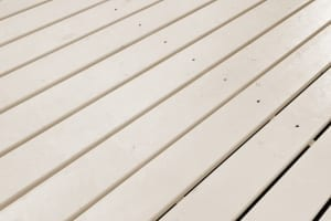 beige painted deck