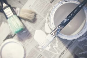 can of white paint