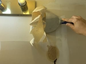 scraping off wallpaper