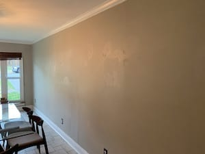dining room wall retexture right - before