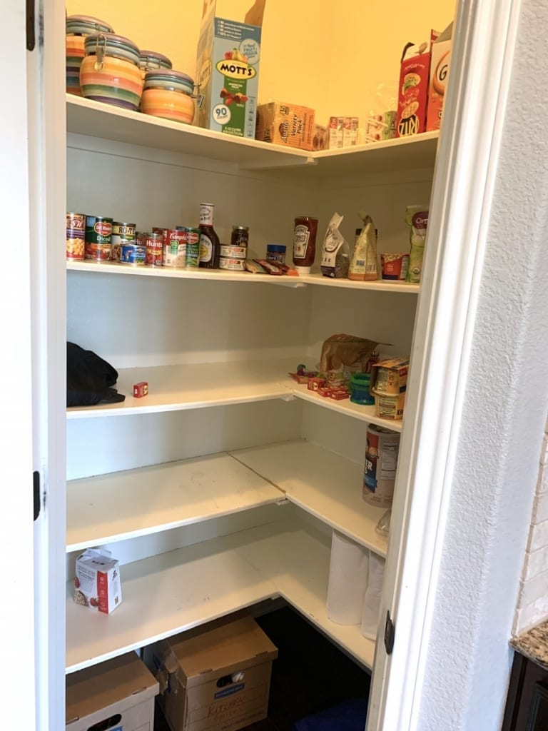small kitchen pantry before