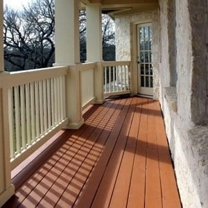 deck staining square