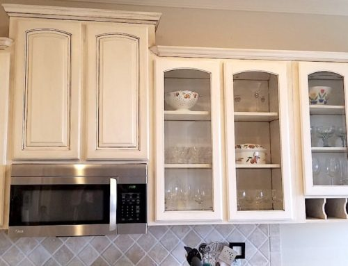 Kitchen Cabinet Faux Painting Transformation