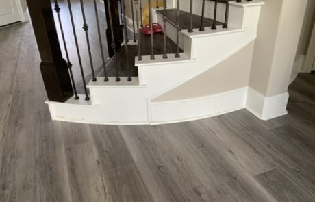 painted baseboards on stairs