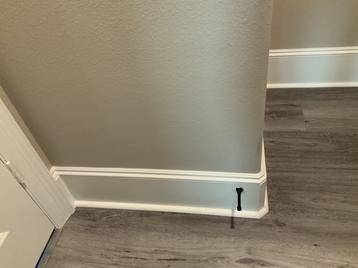 painted baseboards