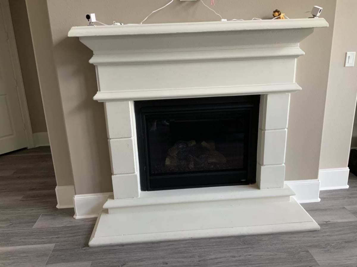 fireplace mantle and trim