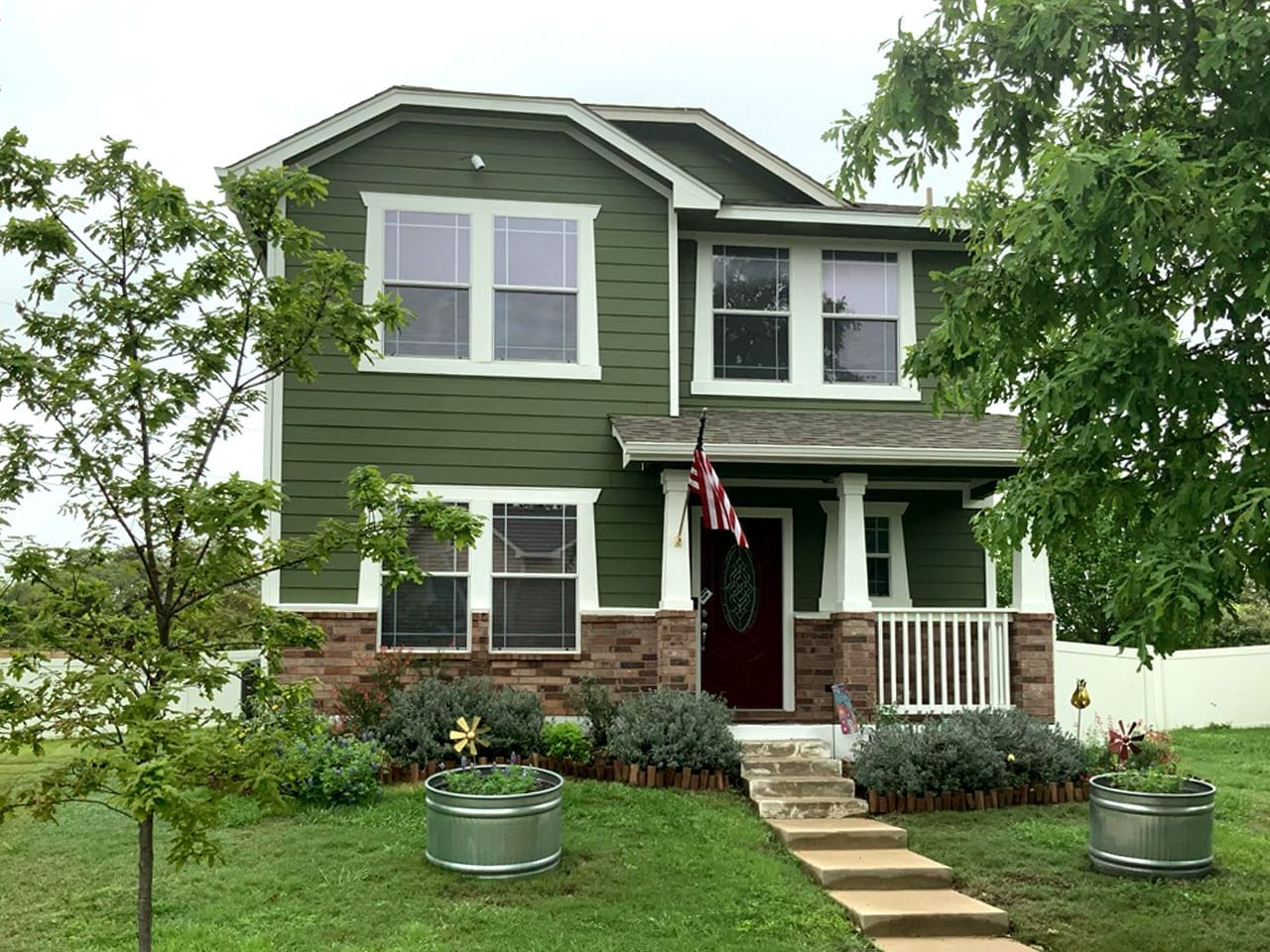 Green Exterior House Paint front