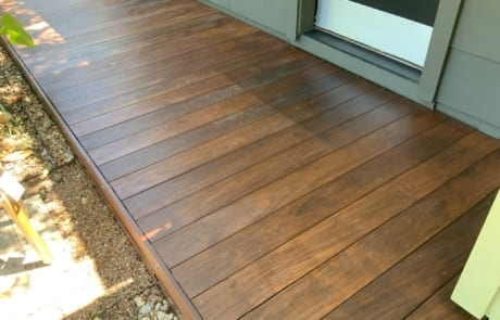brown deck stain color on ipe deck 2