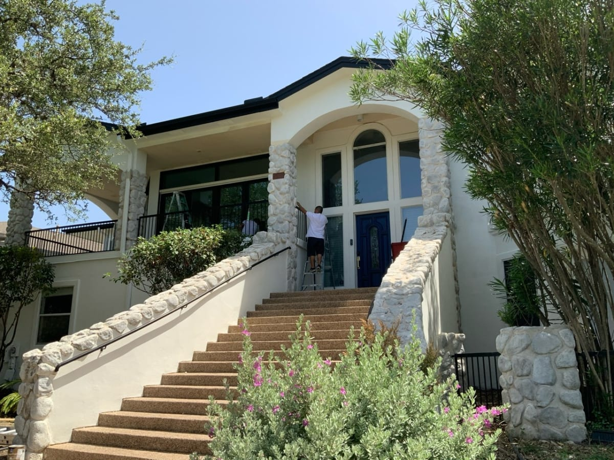 exterior stucco paint -still painting