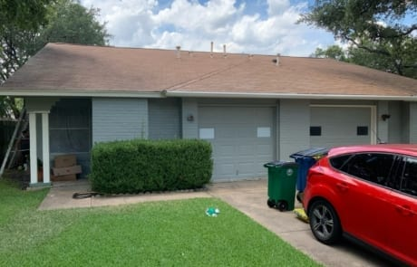 front of home with gray exterior paint colors