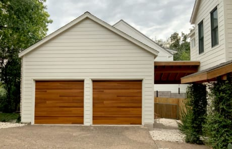 garage doors after staining