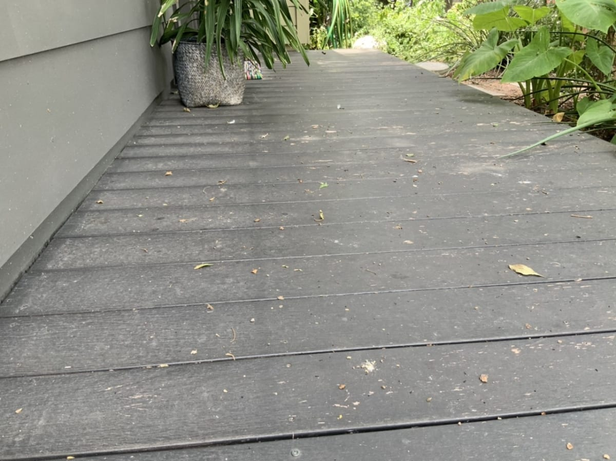gray ipe deck before refinish 2