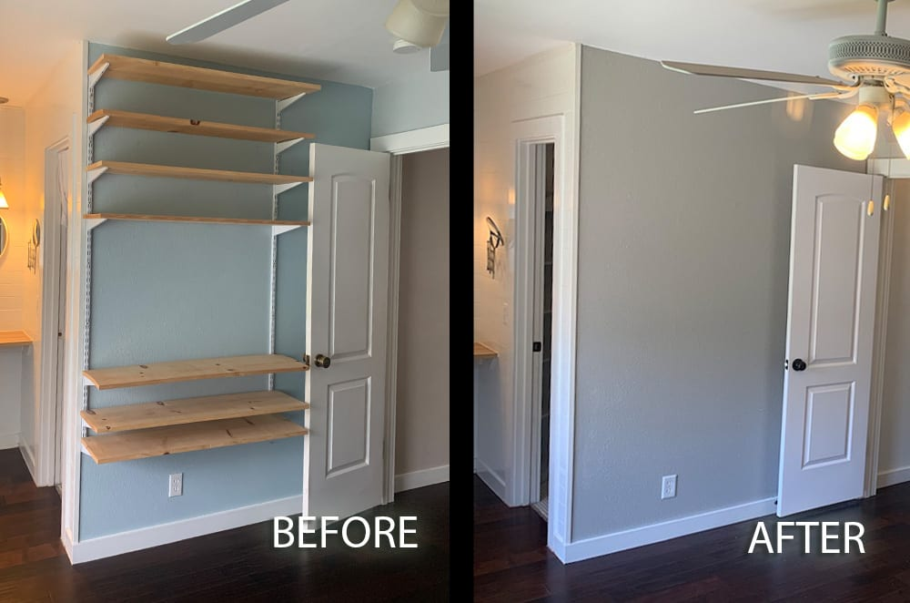 gray master bedroom walls before and after