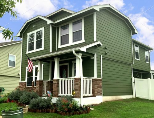 Green Exterior House Paint Project