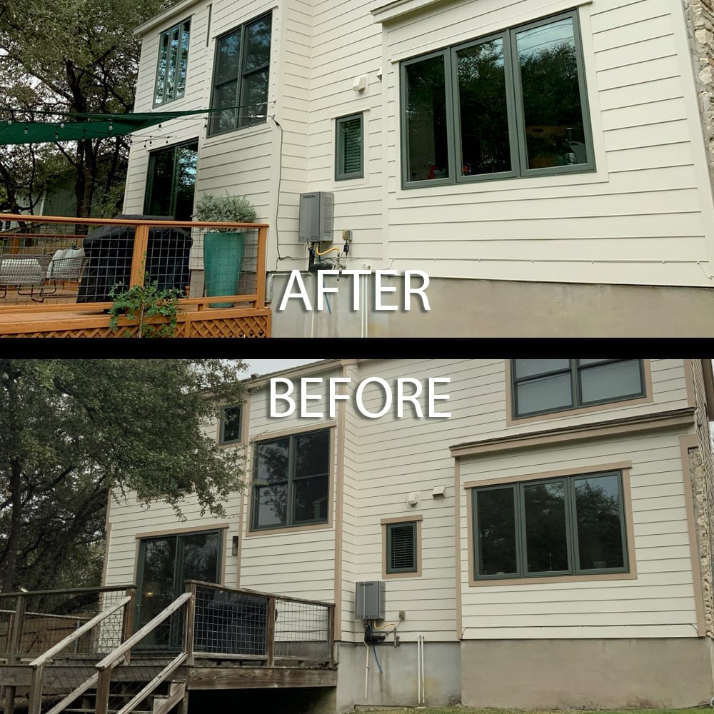 house rear super paint exterior repaint before and after