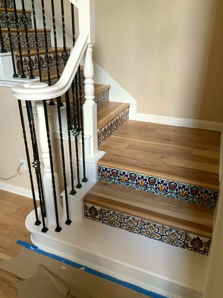repainted stair railing