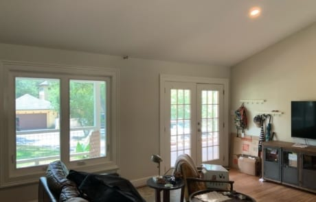 white interior wall paint - living room