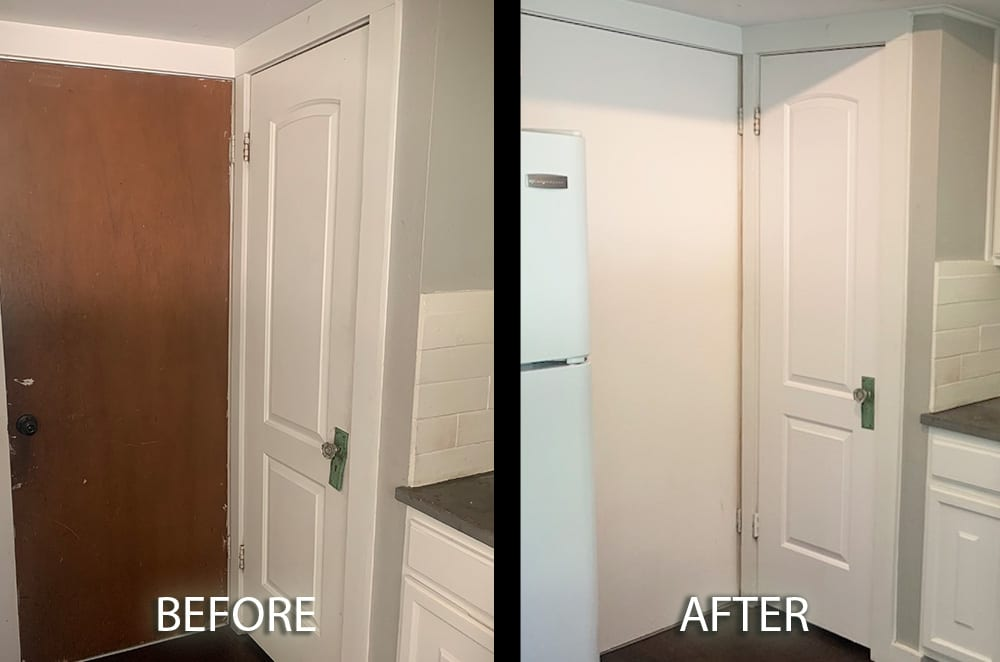 white painted kitchen doors before and after