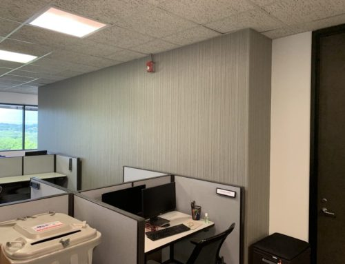 Office Painting And Wallpaper Transformation