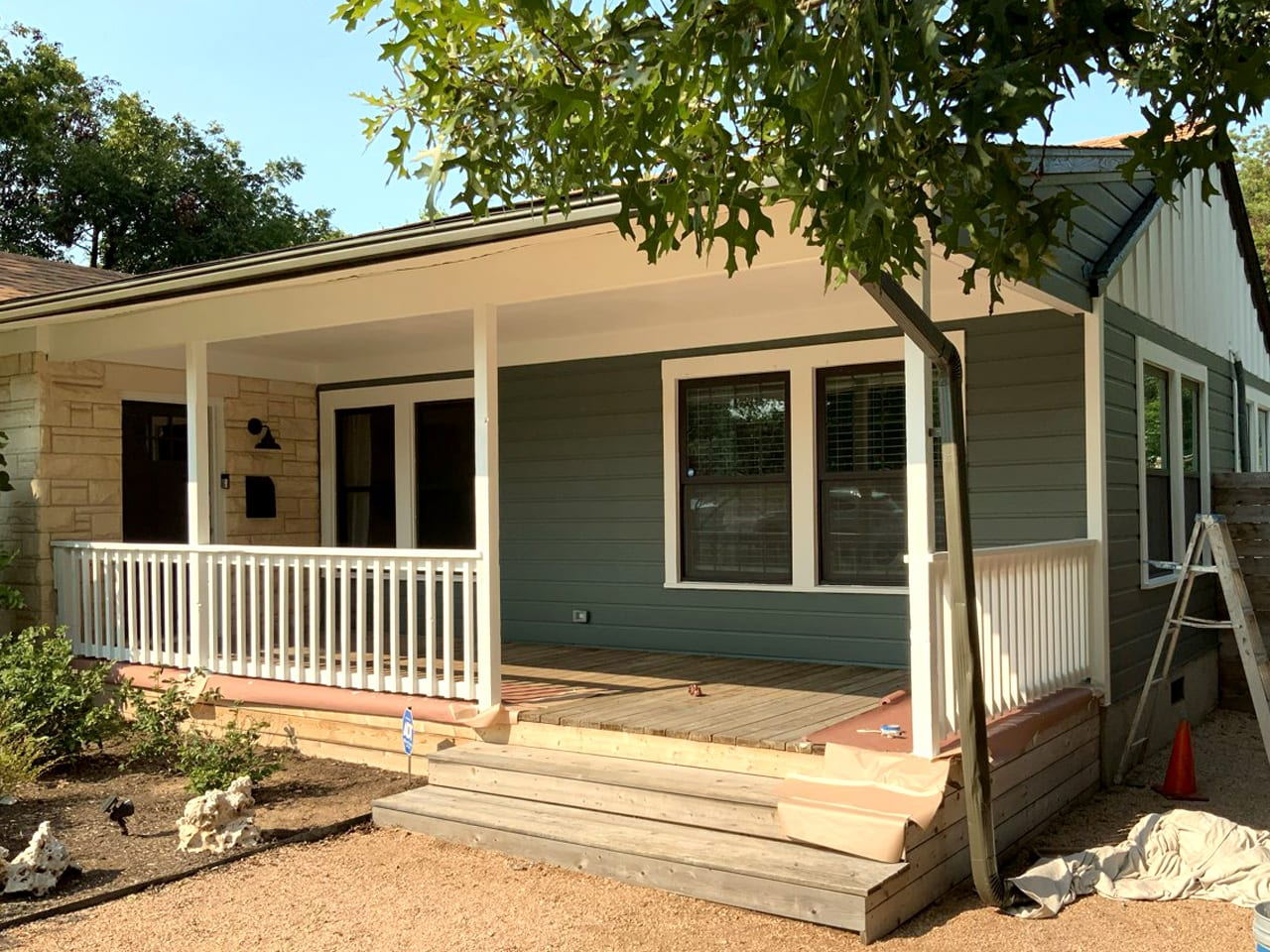 painted porch and railing