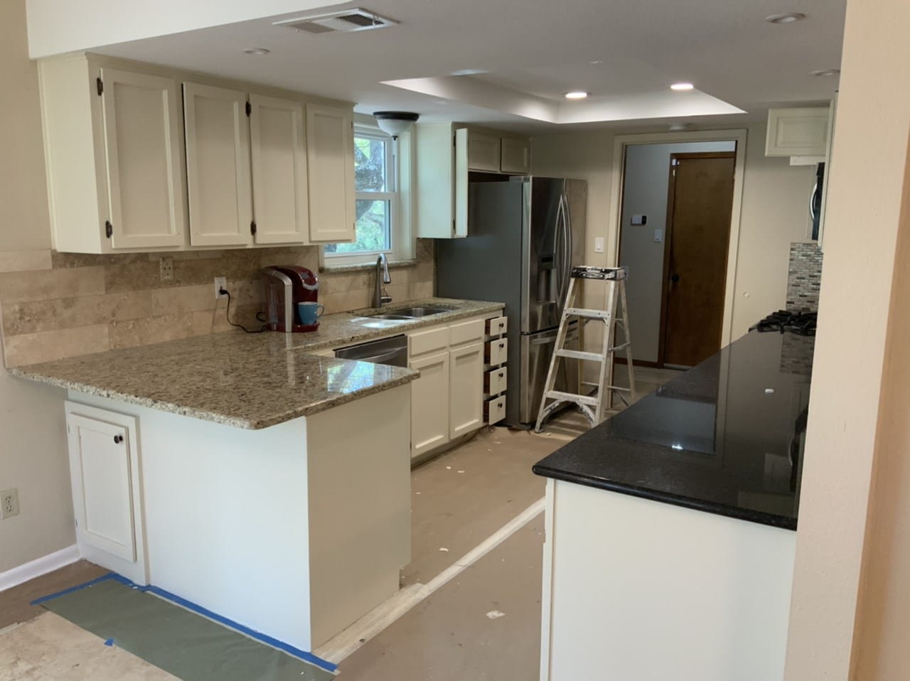 repainted white kitchen cabinets