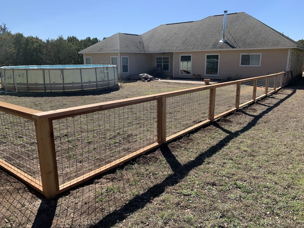 unstained fence corner