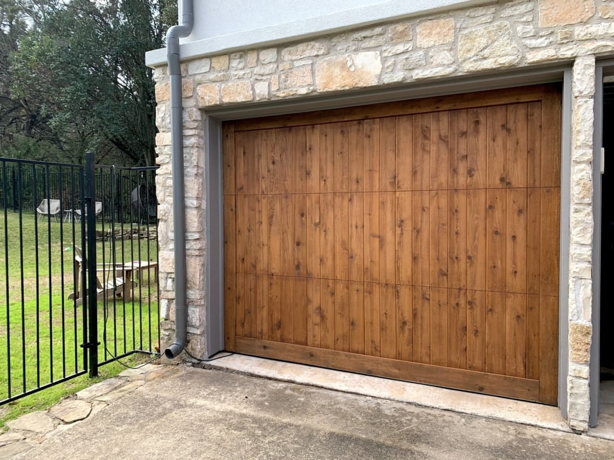 garage door - after staining