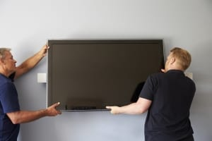 taking a tv off the wall