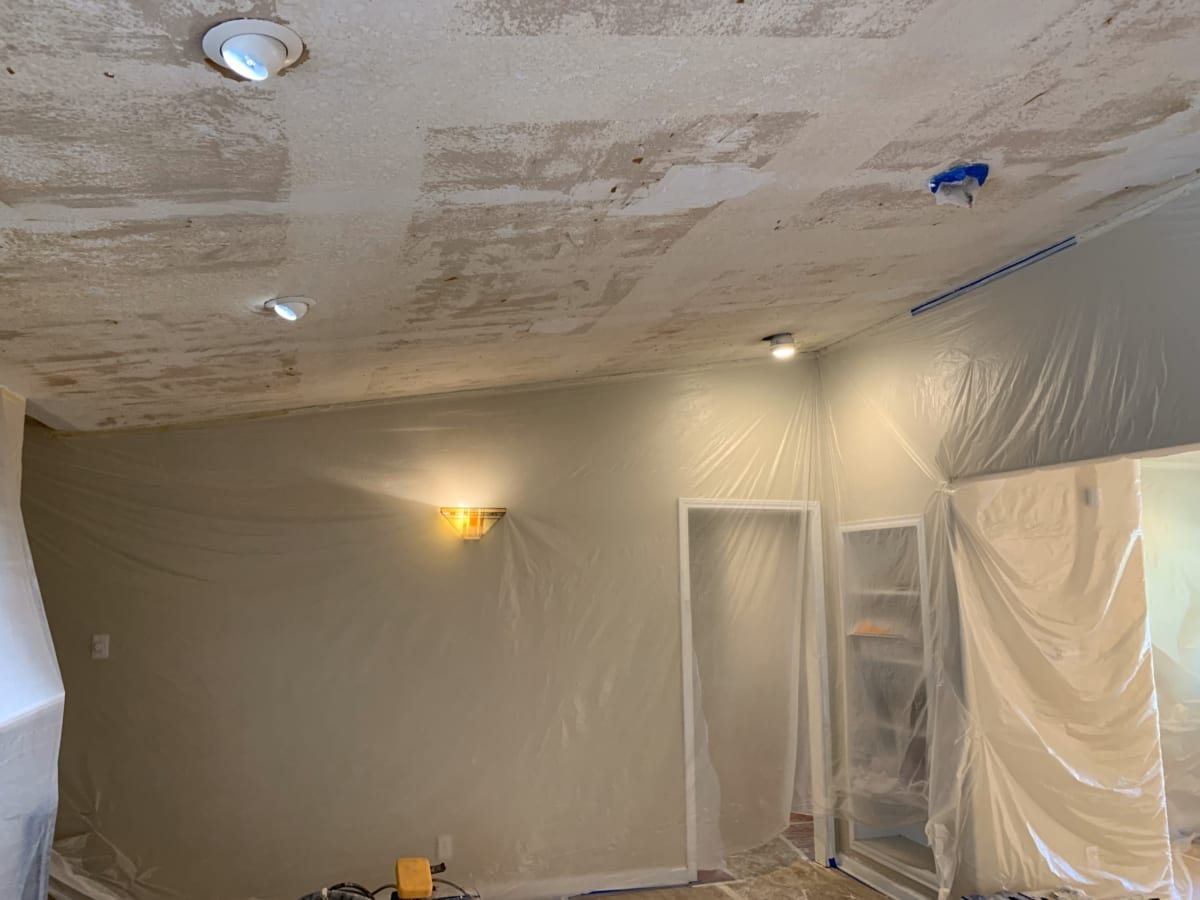 ceiling after scraping