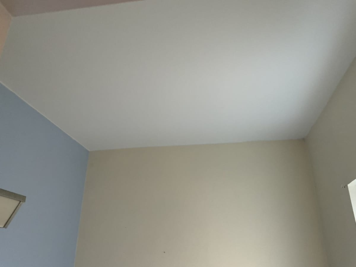 re-textured ceiling after painting