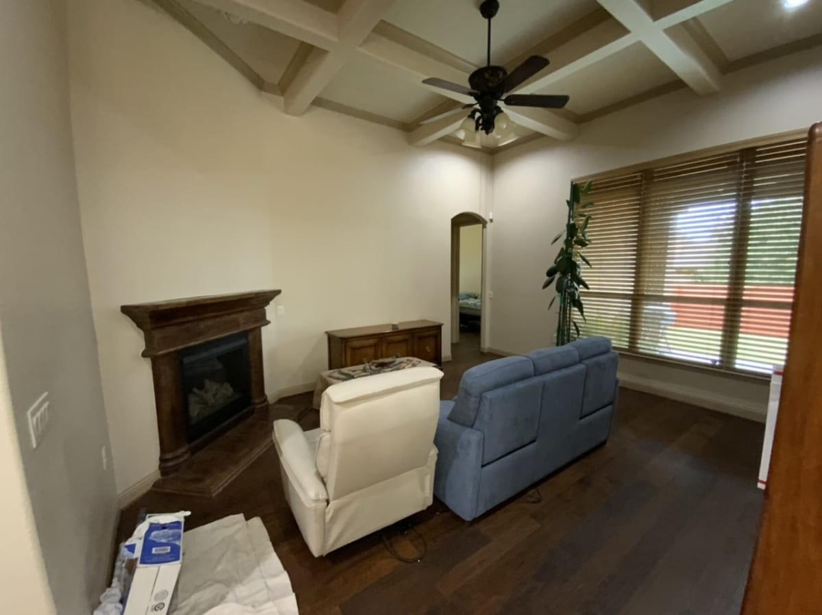 tan living room walls and ceiling