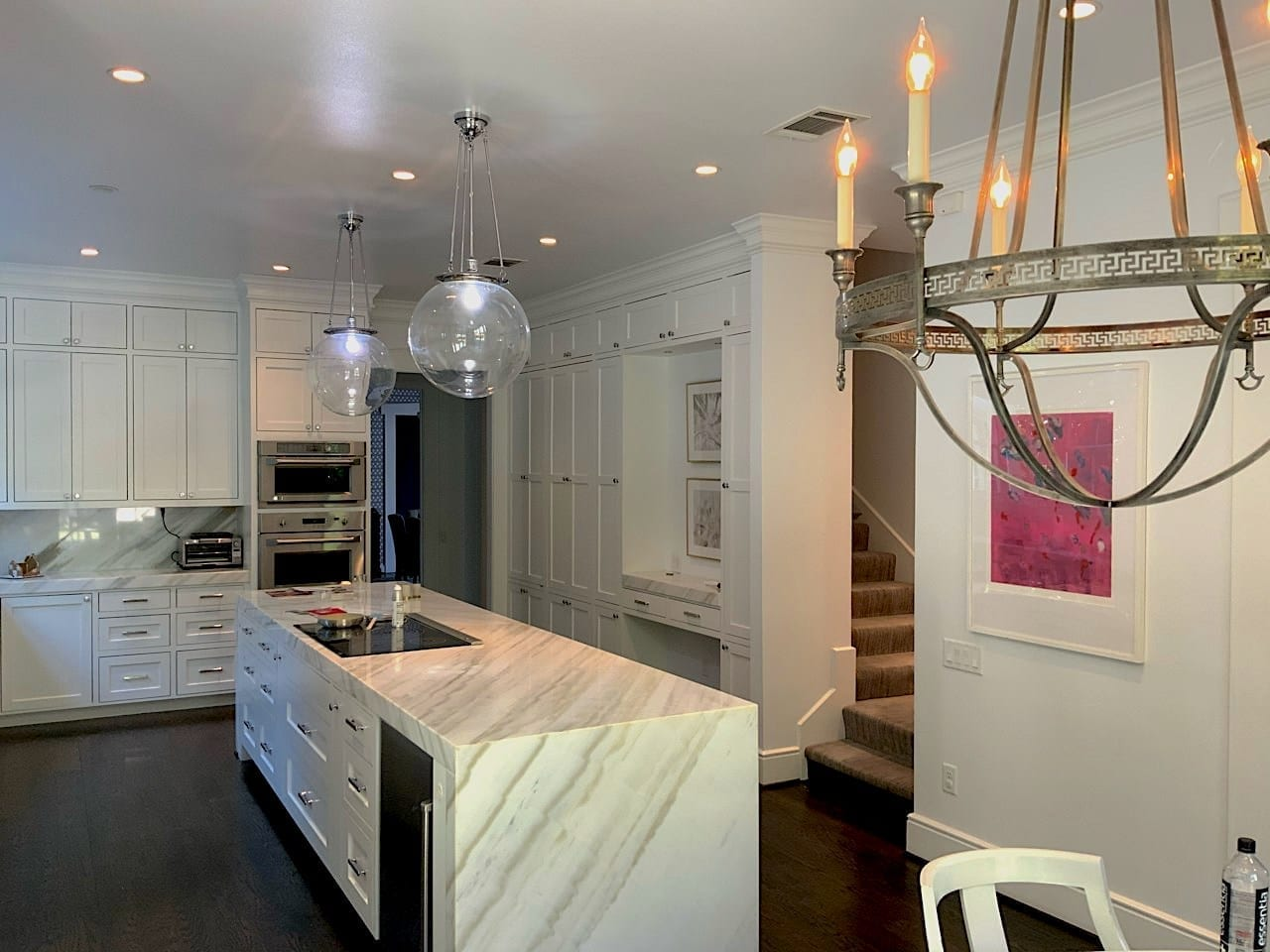 white kitchen - painted ceilings and cabinets