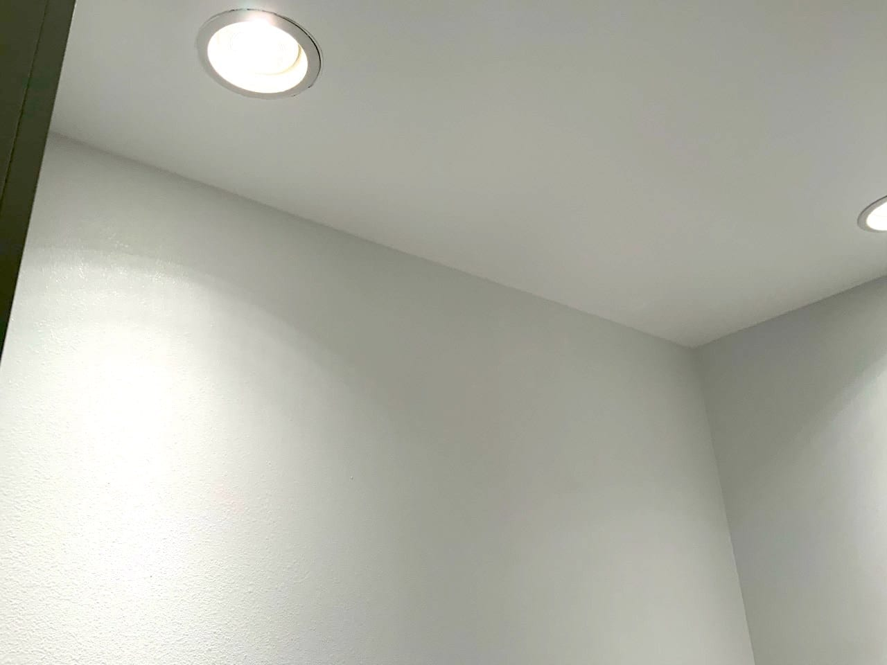 white orange peel texture ceiling