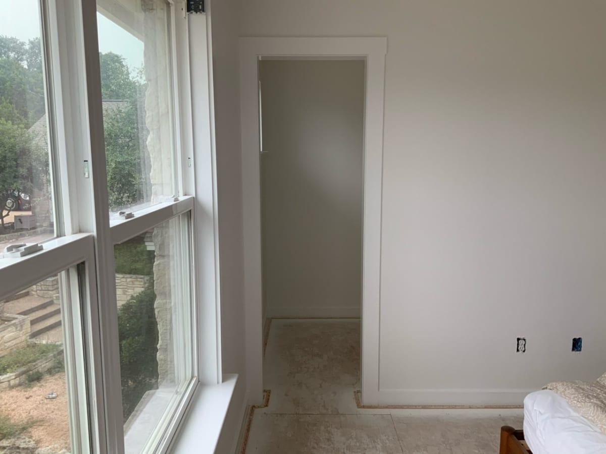white painted room and window